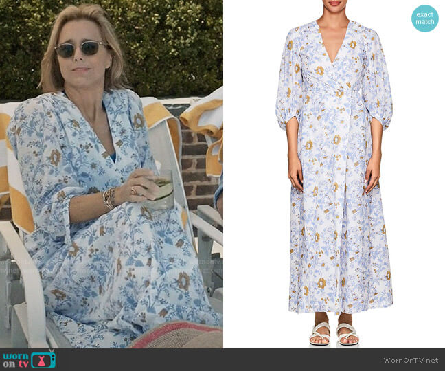Thierry Colson Phoebe Floral Cotton Maxi Dress worn by Elizabeth McCord (Téa Leoni) on Madam Secretary