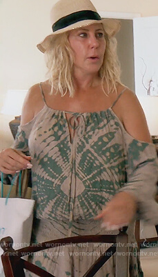 Vicki's tie dye print mini dress on The Real Housewives of Orange County