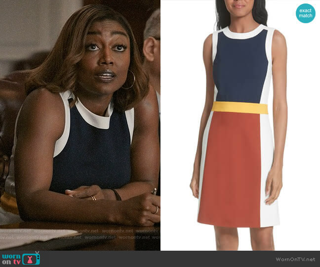 Tory Burch Mya Dress worn by Patina Miller on Madam Secretary