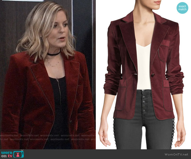 Veronica Beard Rosalie Blazer worn by Kirsten Storms on General Hospital