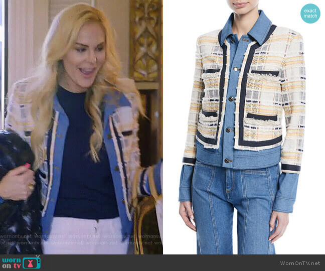 Santiago Jacket by Veronica Beard worn by Kameron Westcott on The Real Housewives of Dallas