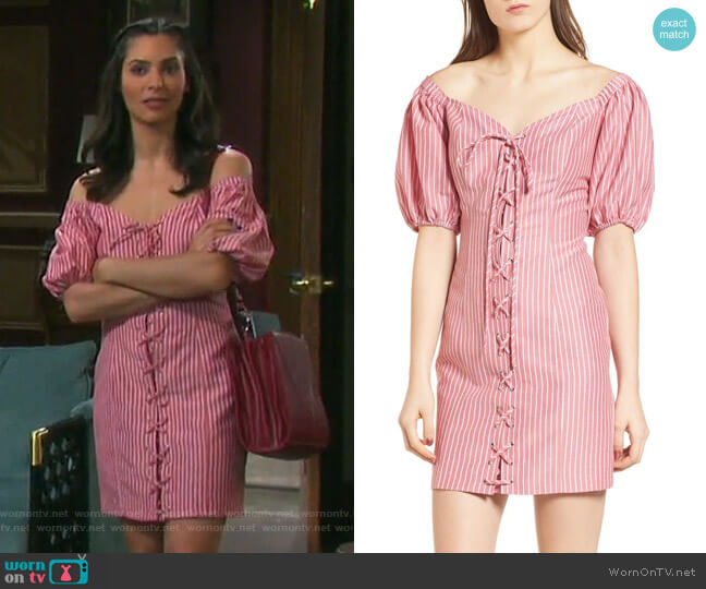 Frankie Dress by Wayf worn by Gabi Hernandez (Camila Banus) on Days of our Lives