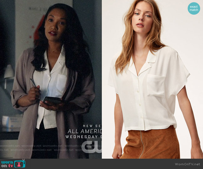 Wilfred Free Shawna Blouse worn by Iris West (Candice Patton) on The Flash