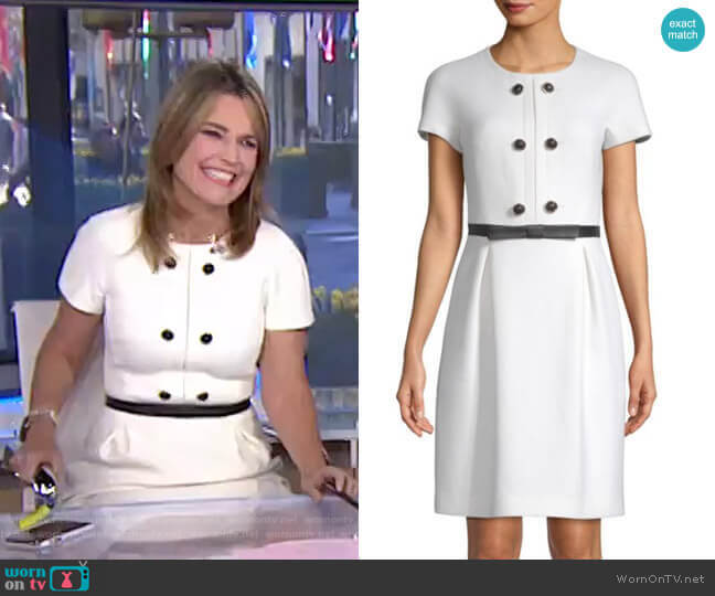 Wool Button Shift Dress by Michael Kors Collection worn by Savannah Guthrie (Savannah Guthrie) on Today
