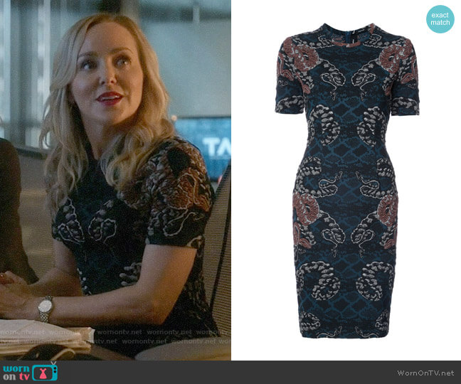 Yigal Azrouel Serpent Jacquard Dress worn by Geneva Carr on Bull