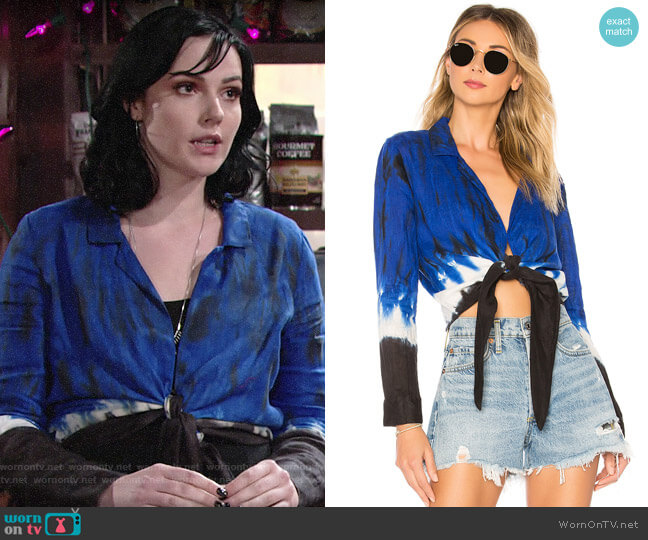 Young Fabulous & Broke Maxson Top worn by Cait Fairbanks on The Young & the Restless
