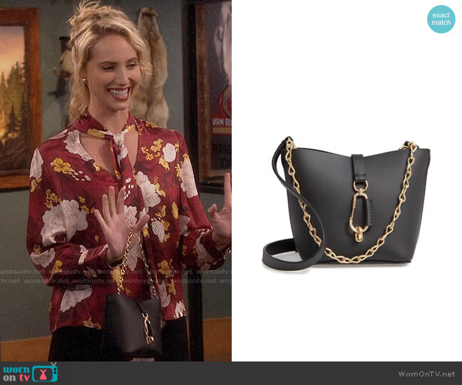ZAC Zac Posen Belay Mini Leather Hobo Bag worn by Mandy Baxter (Molly McCook) on Last Man Standing