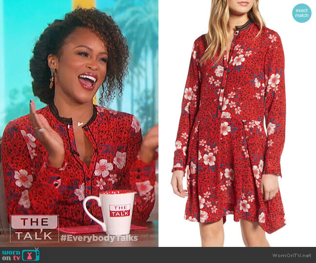 Eve's red floral dress on The Talk