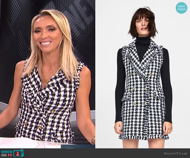 Tweed Dress by Zara worn by Giuliana Rancic (Giuliana Rancic) on E! News