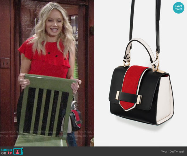 Zara Contrast Mini Bag worn by Abby Newman (Melissa Ordway) on The Young & the Restless