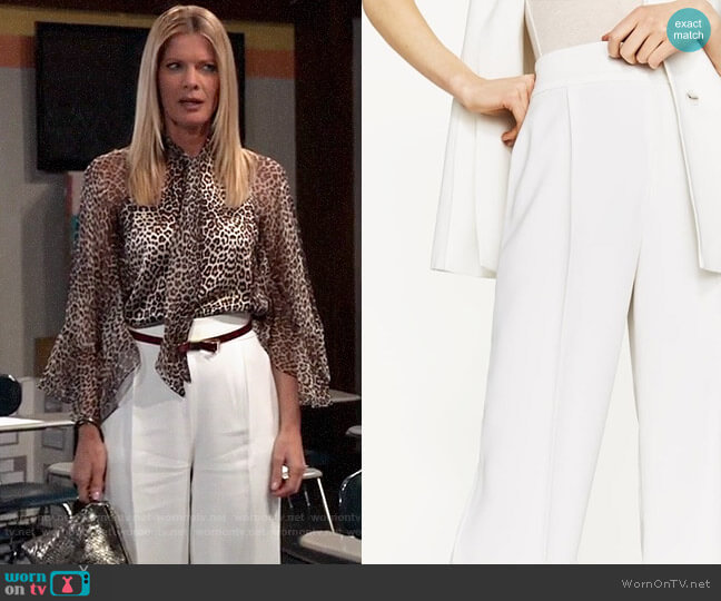 Zara Flowing Palazzo Pants worn by Nina Reeves (Michelle Stafford) on General Hospital