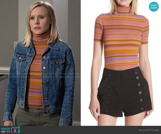 ALC Doninico Sweater worn by Eleanor Shellstrop (Kristen Bell) on The Good Place
