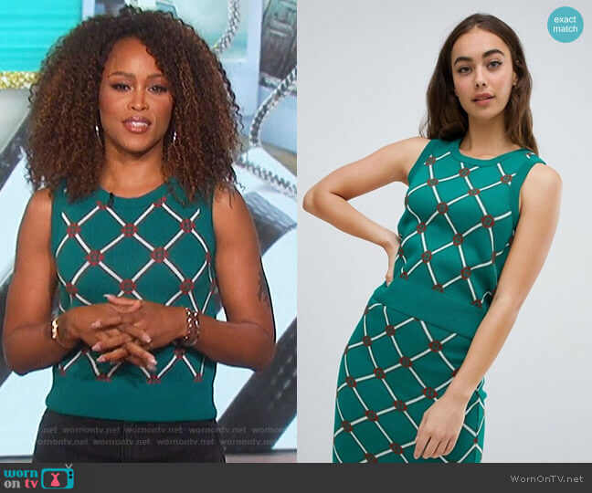 Tank in Argyle Pattern by ASOS worn by Eve  on The Talk