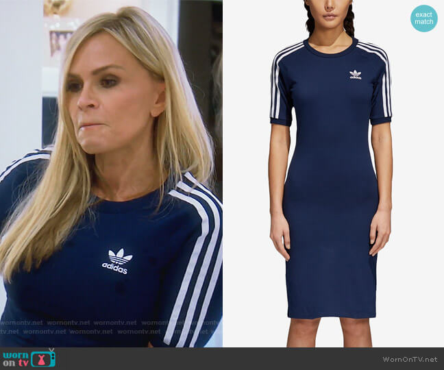 Adicolor Cotton Bodycon Dress by Adidas worn by Tamra Judge  on The Real Housewives of Orange County