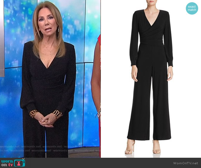 Draped Matte Jersey Jumpsuit by Adrianna Papell worn by Kathie Lee Gifford  on Today