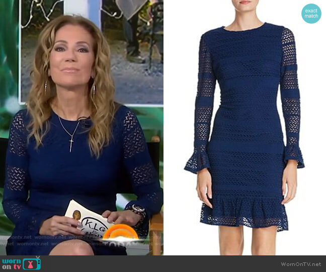 Knit Lace Bell Sleeve Dress by Adrianna Papell worn by Kathie Lee Gifford  on Today