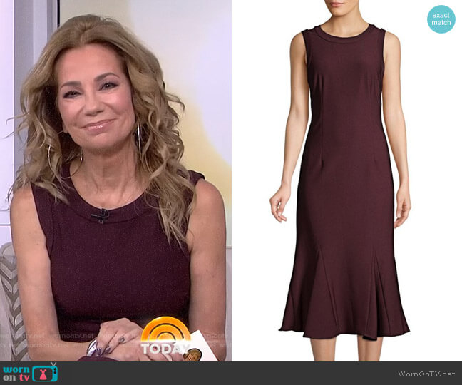 Ottoman Godet Fit & Flare Dress by Adrianna Papell worn by Kathie Lee Gifford  on Today
