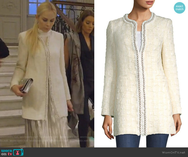 Andreas Jacket by Alice + Olivia worn by Kameron Westcott  on The Real Housewives of Dallas
