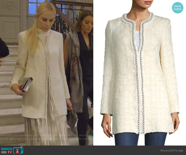 Andreas Jacket by Alice + Olivia worn by Kameron Westcott (Kameron Westcott) on The Real Housewives of Dallas