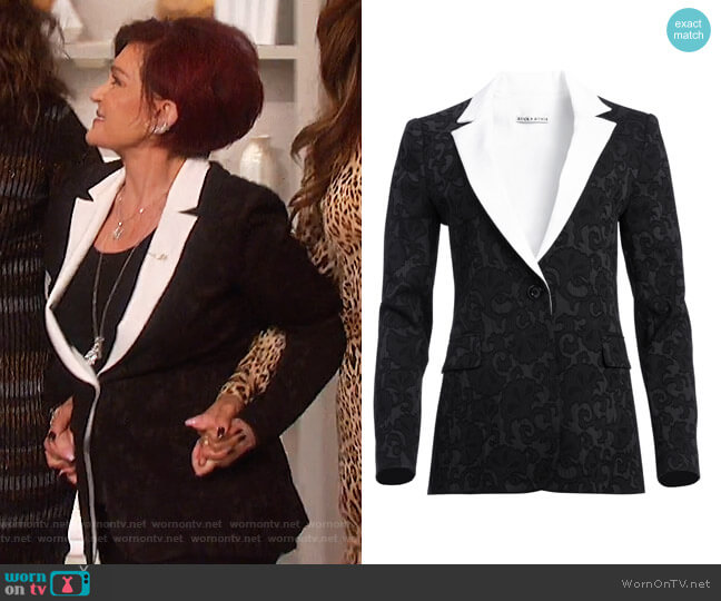 Macey Fitted Blazer by Alice + Olivia worn by Sharon Osbourne  on The Talk