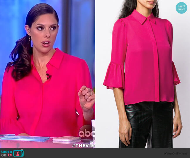 Abby's pink blouse on The View