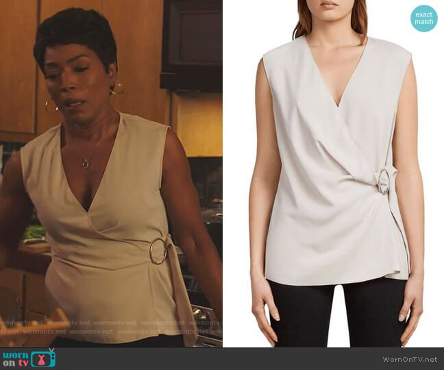 Callie Top by All Saints worn by Athena Grant (Angela Bassett) on 9-1-1