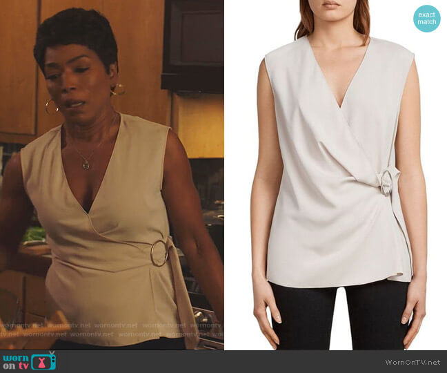 Callie Top by All Saints worn by Angela Bassett on 9-1-1
