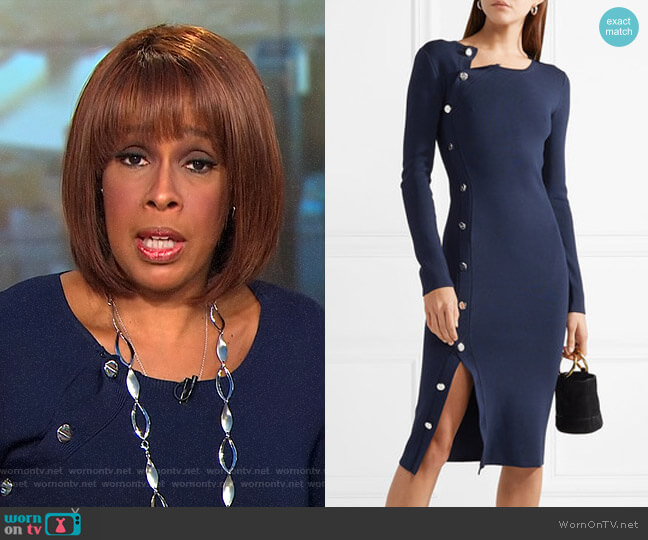 Arzel Dress by Altuzarra worn by Gayle King (Gayle King) on CBS This Morning