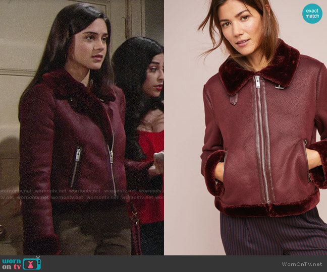 Anthropologie Costello Moto Jacket worn by Lola Rosales (Sasha Calle) on The Young & the Restless