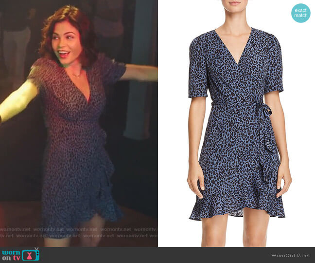 Leopard Print Wrap Dress by Aqua worn by Jenna Dewan on The Resident