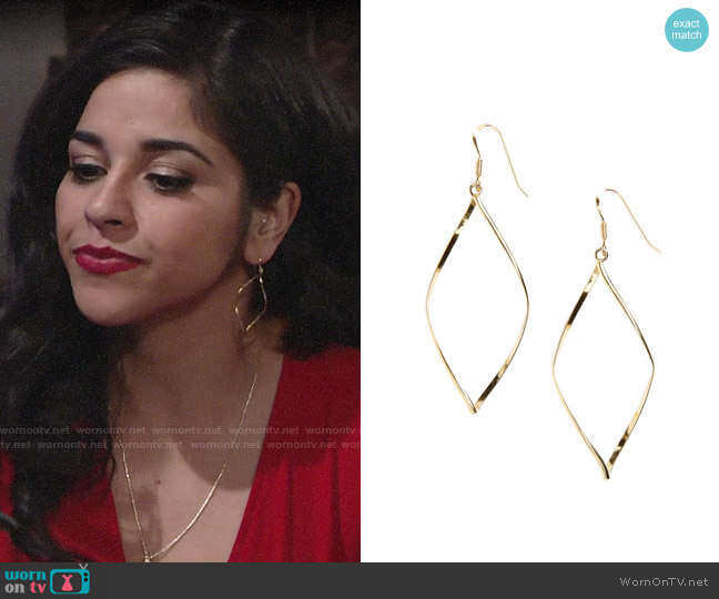 Argento Vivo Marquise Earrings worn by Mia Rosales (Noemi Gonzalez) on The Young & the Restless