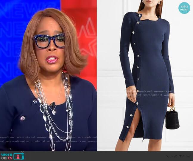 Arzel Dress by Altuzarra worn by Gayle King  on CBS This Morning