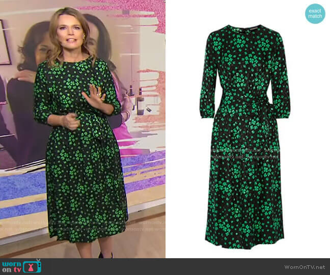 Aurore Printed Midi Dress by Vanessa Seward worn by Savannah Guthrie  on Today