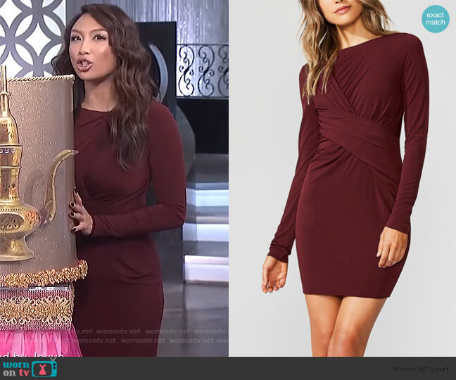 Jeannie's twist front dress on The Real