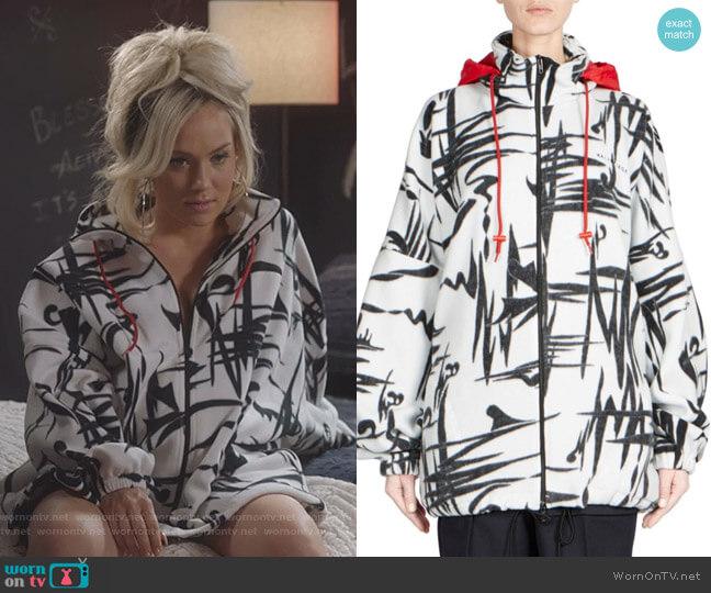 Abstract Print Fleece Jacket by Balenciaga worn by Star Davis (Jude Demorest) on Star