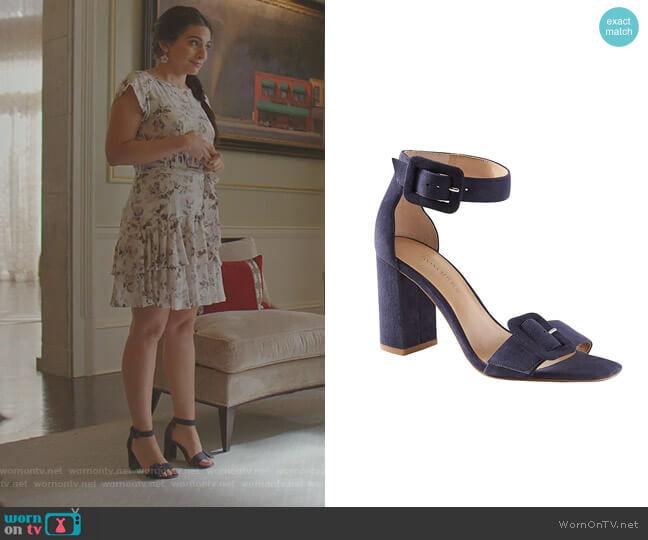 Buckle Block-Heel Sandal by Banana Republic worn by Cristal Jennings (Daniella Alonso) on Dynasty