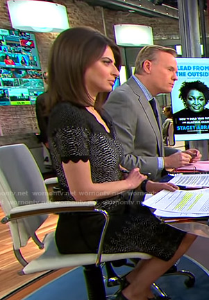 Bianna's black snakeskin print dress on CBS This Morning
