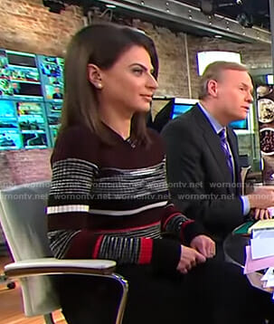 Bianna's striped ribbed sweater on CBS This Morning