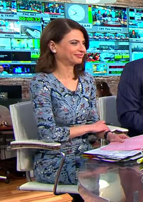 Bianna's blue floral dress on CBS This Morning