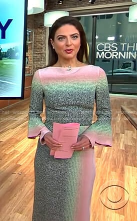 Bianna's ombre sheath dress on CBS This Morning