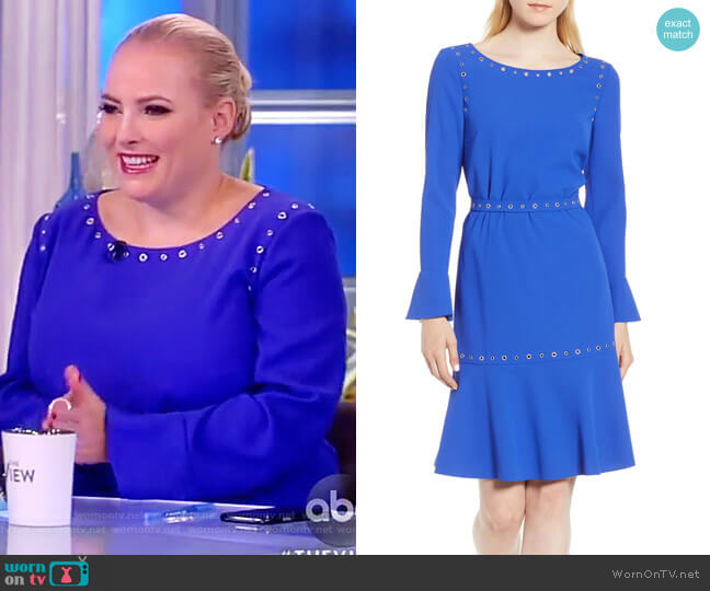 Henryke Rivet Crepe Dress by Boss worn by Meghan McCain  on The View