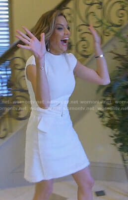 Cary's white belted dress on The Real Housewives of Dallas