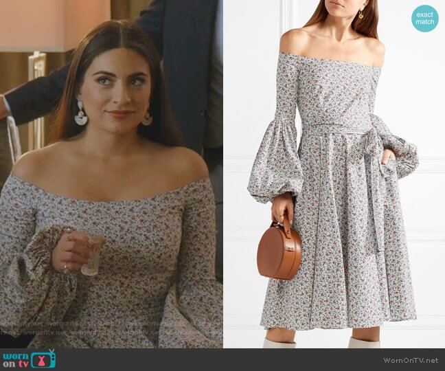 Gisele Dress by Caroline Constas worn by Cristal Jennings (Daniella Alonso) on Dynasty