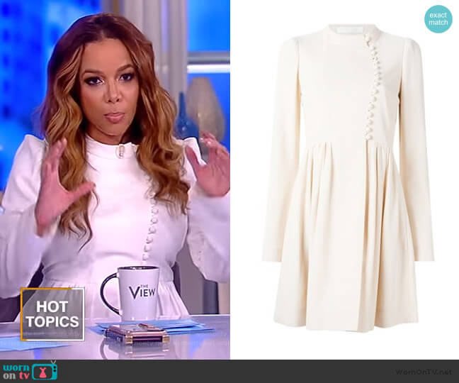 Button Front Flared Dress by Chloe worn by Sunny Hostin  on The View