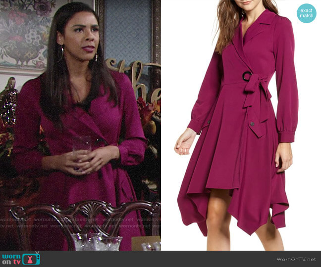 Chriselle Lim Wren Trench Dress worn by Kerry Johnson (Alice Hunter) on The Young & the Restless