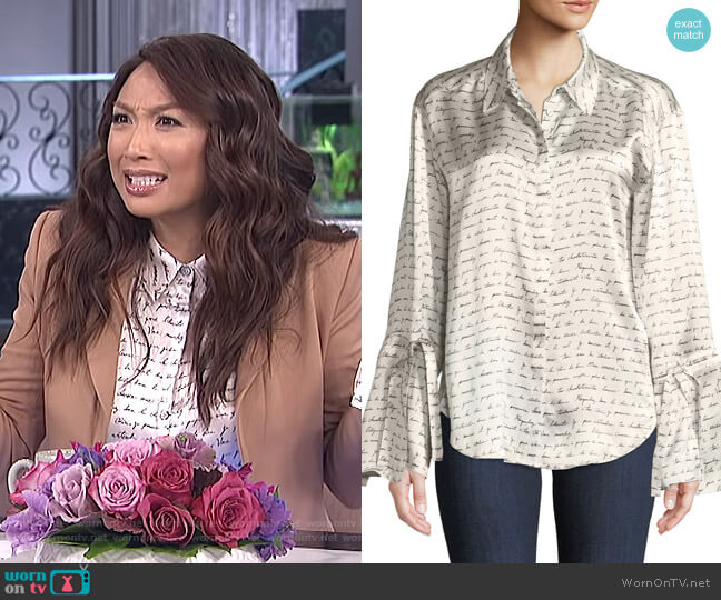 Elisia Blouse by Cinq a Sept worn by Jeannie Mai (Jeannie Mai) on The Real