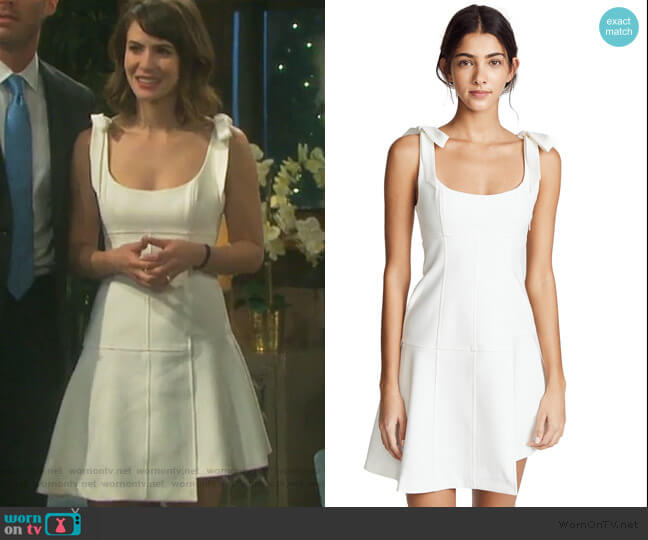 Jeanette Dress by Cinq a Sept worn by Sarah Horton (Linsey Godfrey) on Days of our Lives