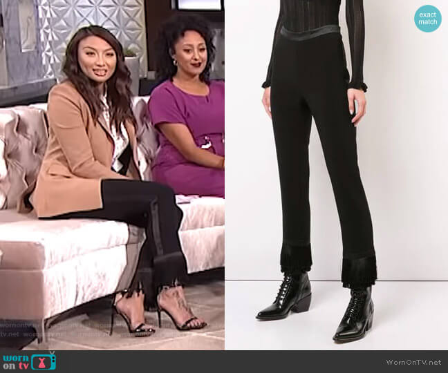 Cropped Tailored Trousers by Cinq a Sept worn by Jeannie Mai (Jeannie Mai) on The Real