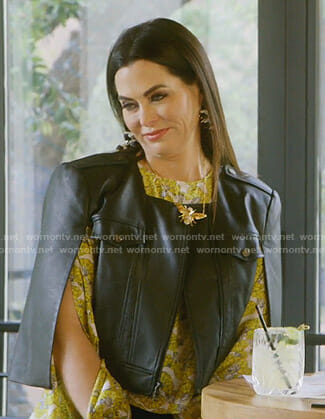 D'Andra's black cape jacket on The Real Housewives of Dallas
