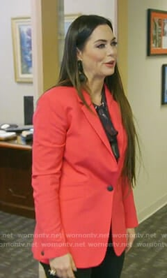 D'Andra's red blazer on The Real Housewives of Dallas